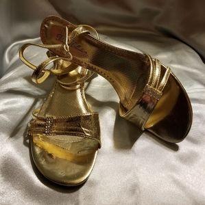 Gold Low Profile Sandal Sz 9